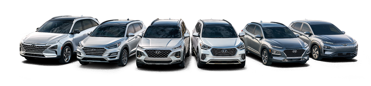 lineup of Hynudai cars for sale at Paramus Hyundai