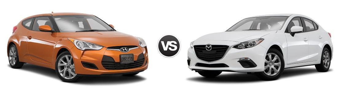2016 Hyundai Veloster vs Mazda3