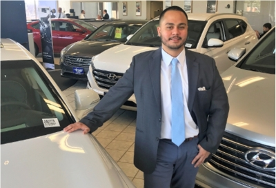 Internet Sales Manager James Velez in Sales at Paramus Hyundai