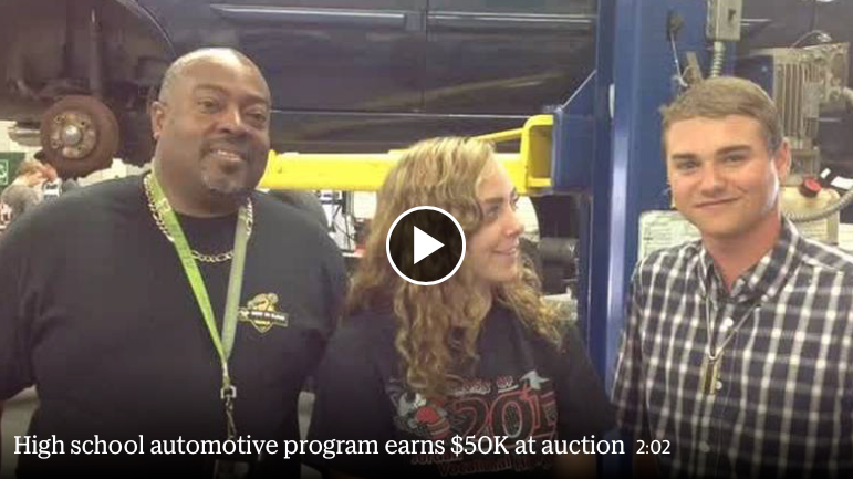 High school automotive program earns $50K at auction