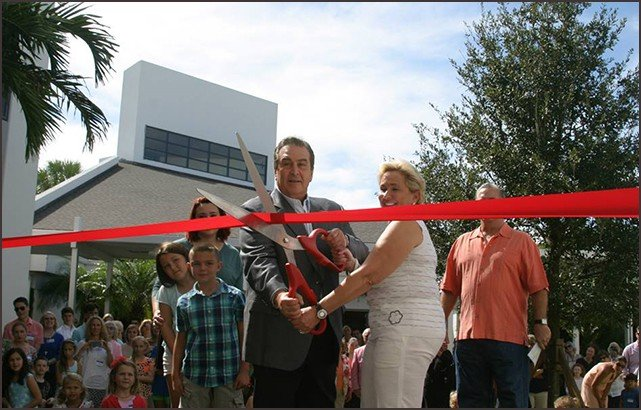 Ribbon Cutting the New Staluppi Center