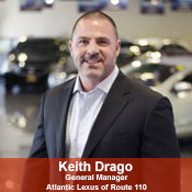 Atlantic Lexus of Route 110 & Lexus of Rockville Centre General Manager Keith Drago in Management at NY Auto Giant