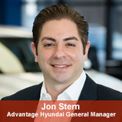 Advantage Hyundai General Manager Jon Stern in Management at NY Auto Giant
