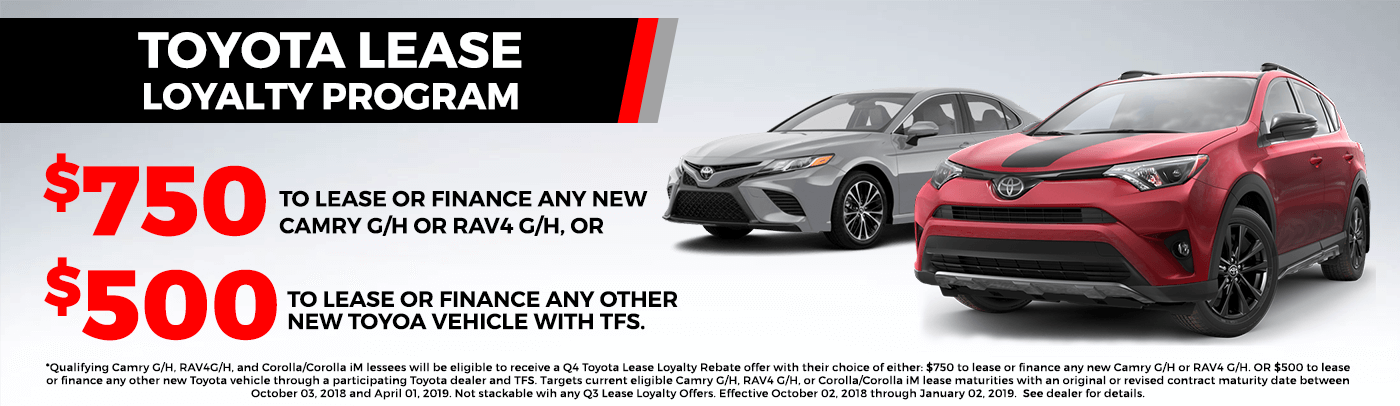 Toyota Lease Loyalty Program