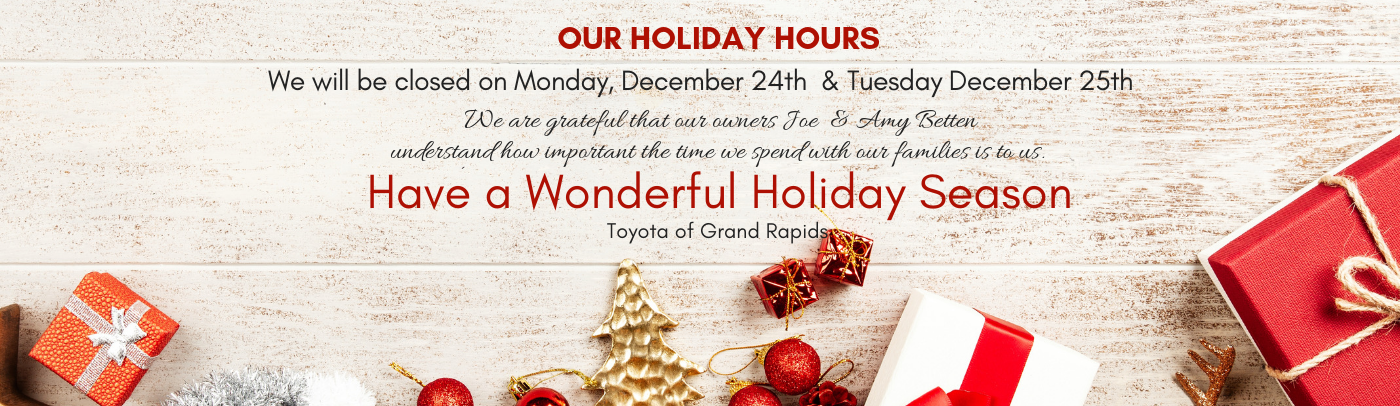 Holiday Hours Toyota of Grand Rapids