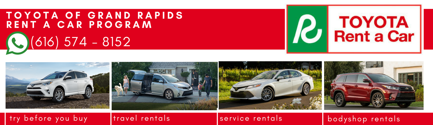 Toyota of Grand Rapids Rent a Car Program