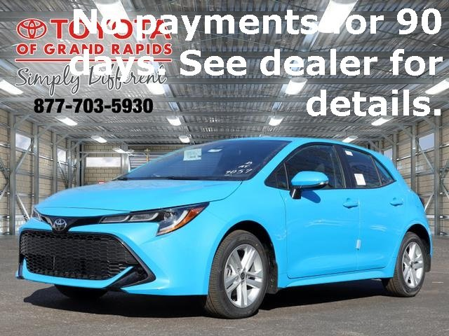 Lease this 2020, Blue, Toyota, Corolla Hatchback, SE