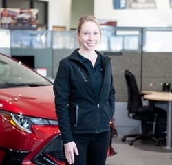 Service Consultant Emily Fritsch in Service at Toyota of Grand Rapids
