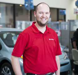 Service Consultant Ashton Heydenbeck in Service at Toyota of Grand Rapids