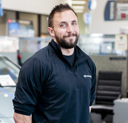 Service Consultant Lance Reichard in Service at Toyota of Grand Rapids