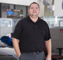 Service Consultant James Laarman in Service at Toyota of Grand Rapids