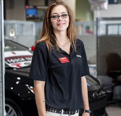 Service Consultant Jennifer Hoyt in Service at Toyota of Grand Rapids