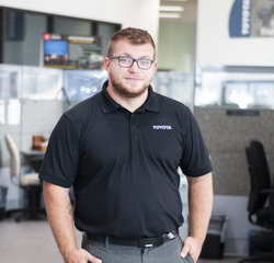 Service Consultant Adnan Korac in Service at Toyota of Grand Rapids