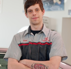 Service Technician Chad  Dekkinga in Service at Toyota of Grand Rapids