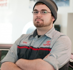 Service Technician Corey Williams in Service at Toyota of Grand Rapids