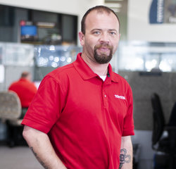 Service Consultant Damian Wright in Service at Toyota of Grand Rapids