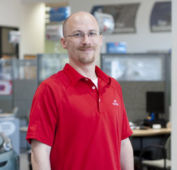 Service Consultant Robert Beland in Service at Toyota of Grand Rapids