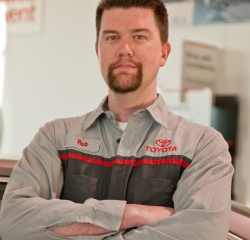 Service Technician Rob Mielke in Service at Toyota of Grand Rapids