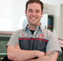 Service Technician Ryan Welsh  in Service at Toyota of Grand Rapids