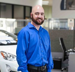 Service Consultant Aaron Jacques in Service at Toyota of Grand Rapids
