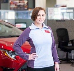 "Service Consultant Alexandra ""Alex"" Merril in Service at Toyota of Grand Rapids"