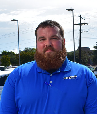 Service Advisor Evan Christoffels in Service at J.C. Lewis Ford