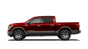 brand new red 2018 Nissan Titan Platinum Reserve