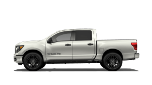 brand new white 2018 Nissan Titan SV Midnight Edition