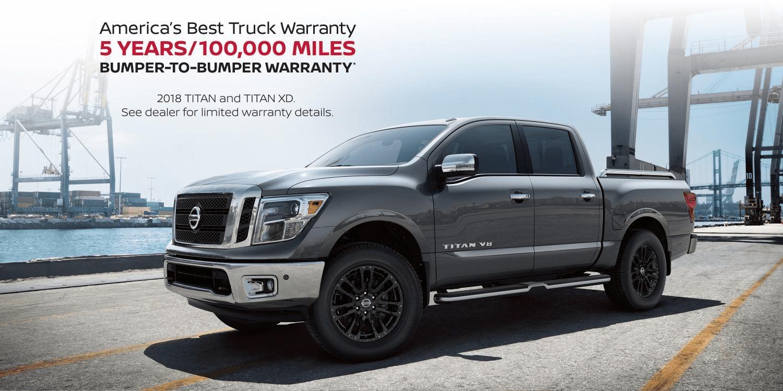 Silver Nissan Titan With Americau0027s Best Truck Warranty