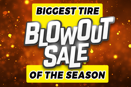 Biggest Tire Blowout Sale of the Season