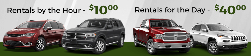 rentals by the day and hour