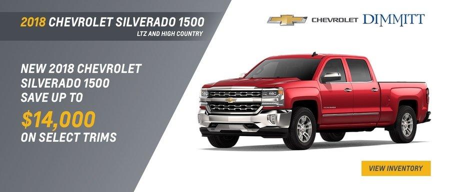 2018 Chevrolet Silverado 1500 LTZ and High Country