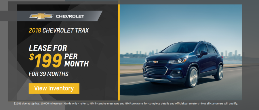 Lease a 2018 Chevrolet Trax from Dimmitt Chevrolet in Clearwater, FL.