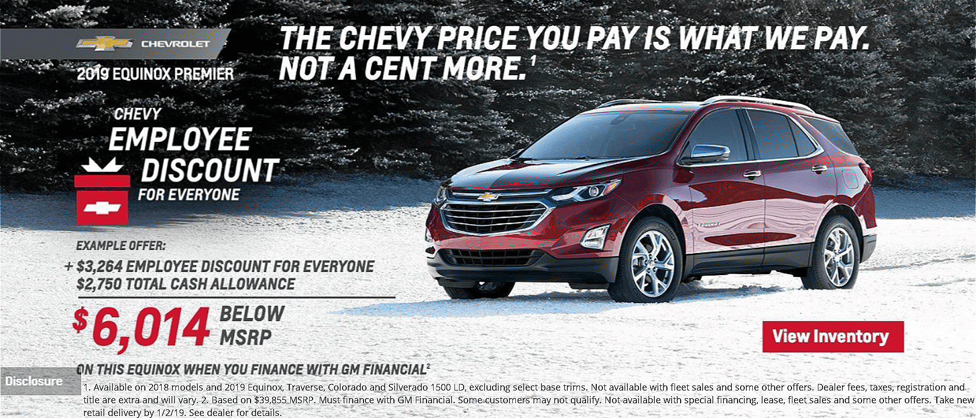 Chevy Employee Pricing for Everyone at Dimmitt Chevrolet in Clearwater, FL.