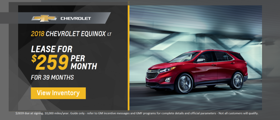 2018 Chevrolet Equinox LT lease at Dimmitt Chevrolet in Clearwater, FL