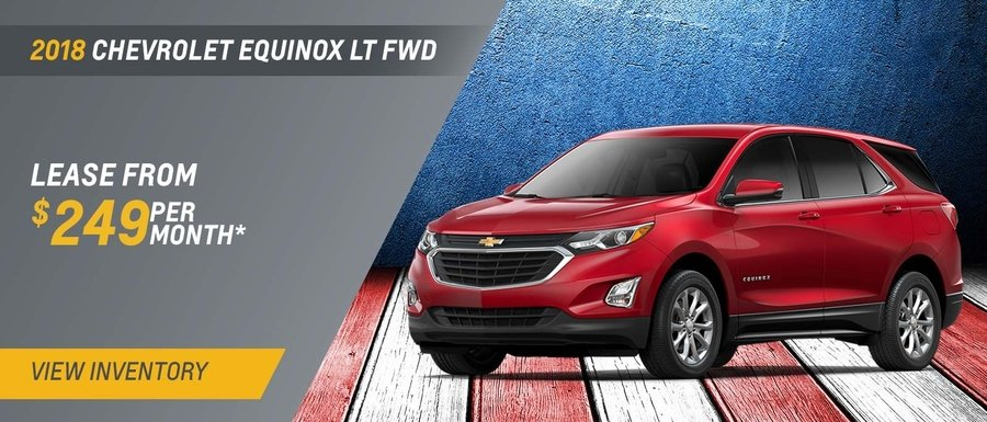 Lease a 2018 Equinox LT FWD from $249 per month from Dimmitt Chevrolet in Clearwater, FL.
