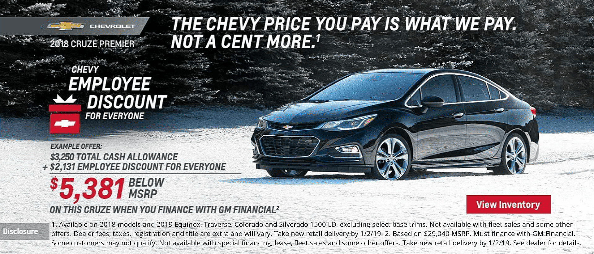 Chevy Employee Discount for Everyone at Dimmitt Chevrolet in Clearwater, FL.