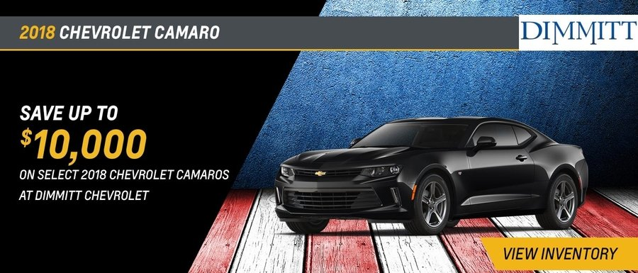 Save up to $10,000 on select Camaro models at Dimmitt Chevrolet in Clearwater, FL.