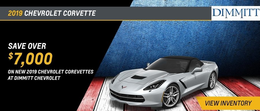 Save over $7,000 on new 2019 Chevrolet Corvettes at Dimmitt Chevrolet in Clearwater, FL.