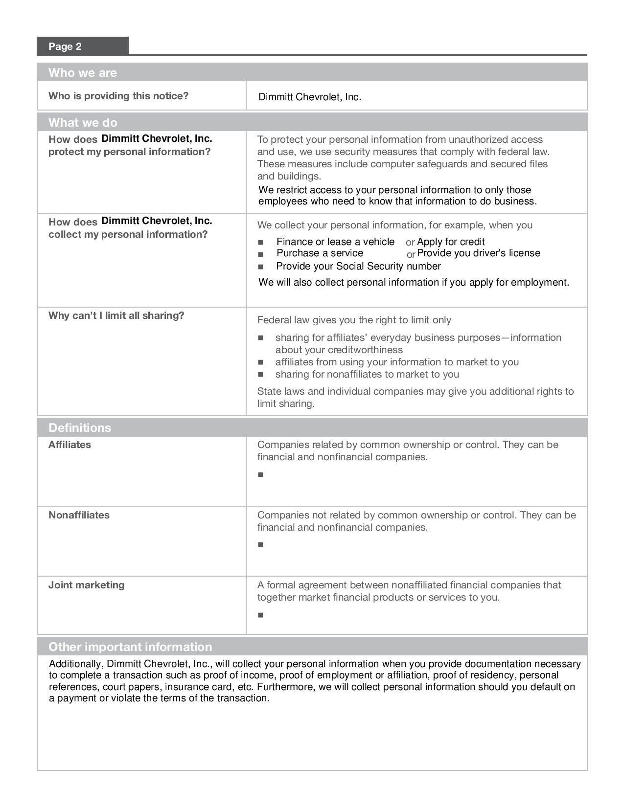 privacy notice pdf page 2