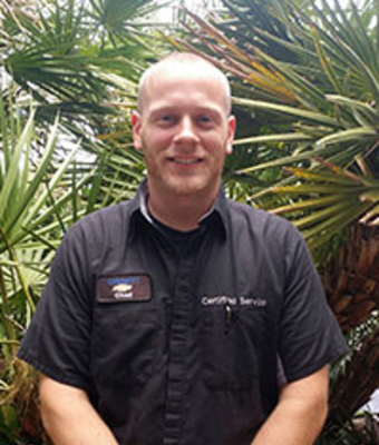 GM Certified Service Technician Chad Nichols in Service at Dimmitt Chevrolet