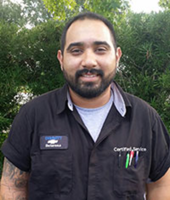 GM Certified Service Technician Michael Delarosa in Service at Dimmitt Chevrolet