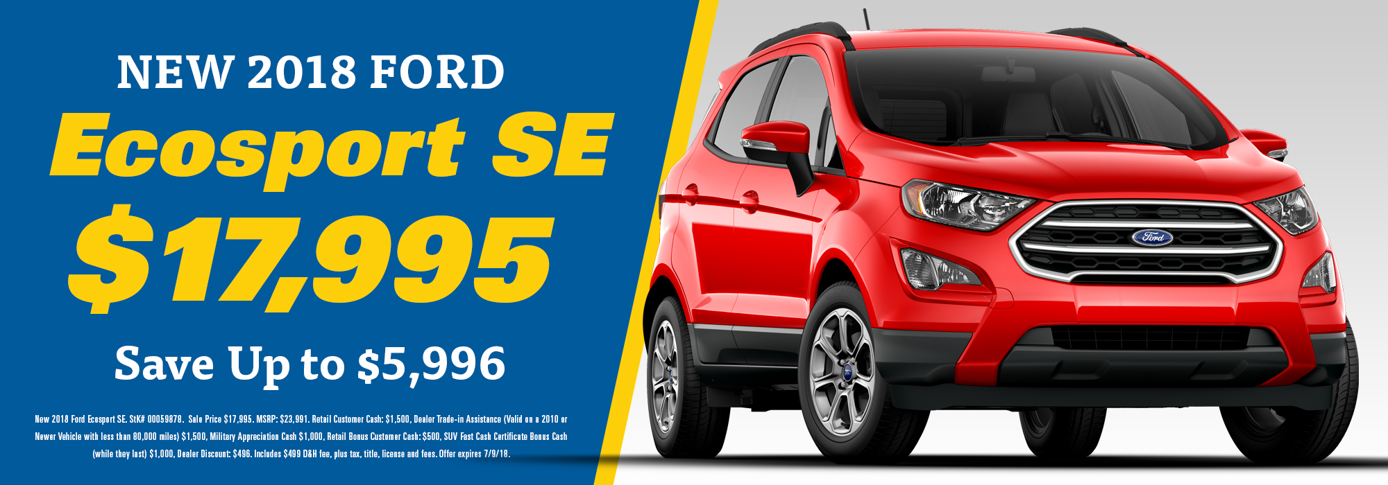 ford ecosport savings special
