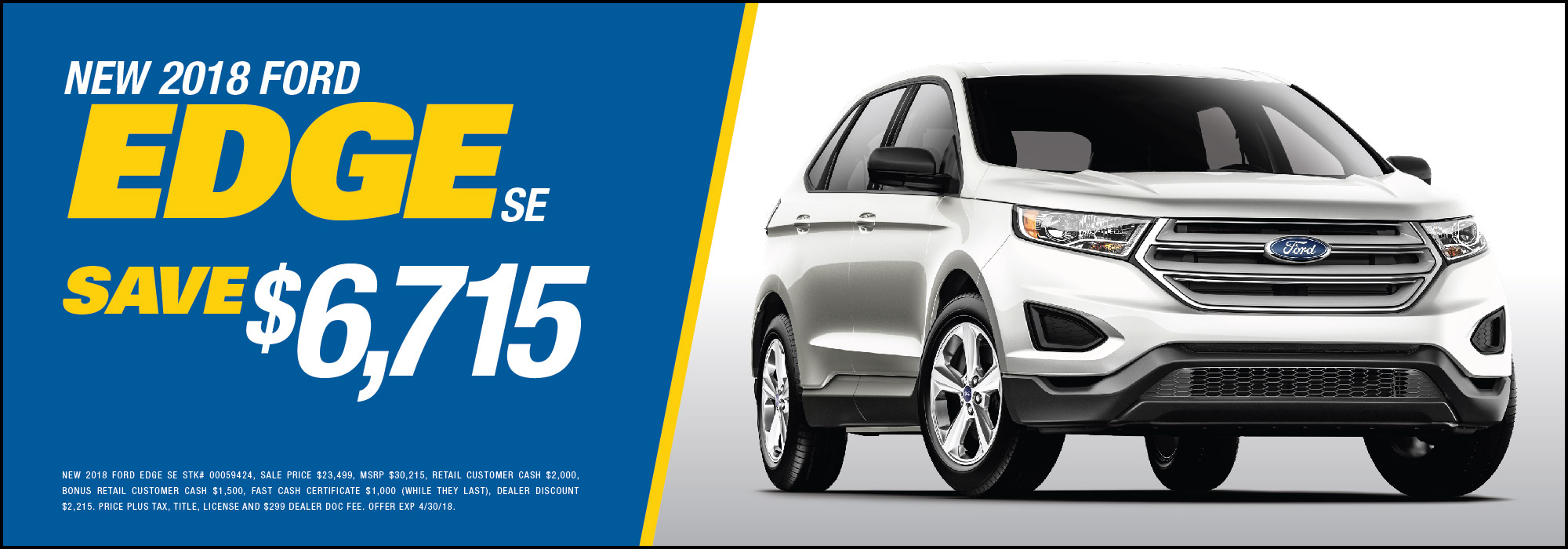 ford edge se savings special