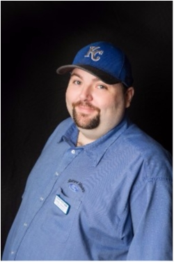 Inventory Control Derek Baswell in Parts at Shawnee Mission Ford