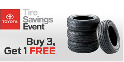 Coupon for Buy 3 Tires, Get One FREE