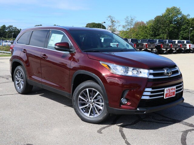 Lease this 2019, Red, Toyota, Highlander, XLE V6