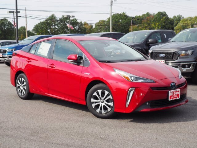 Lease this 2021, Red, Toyota, Prius, LE