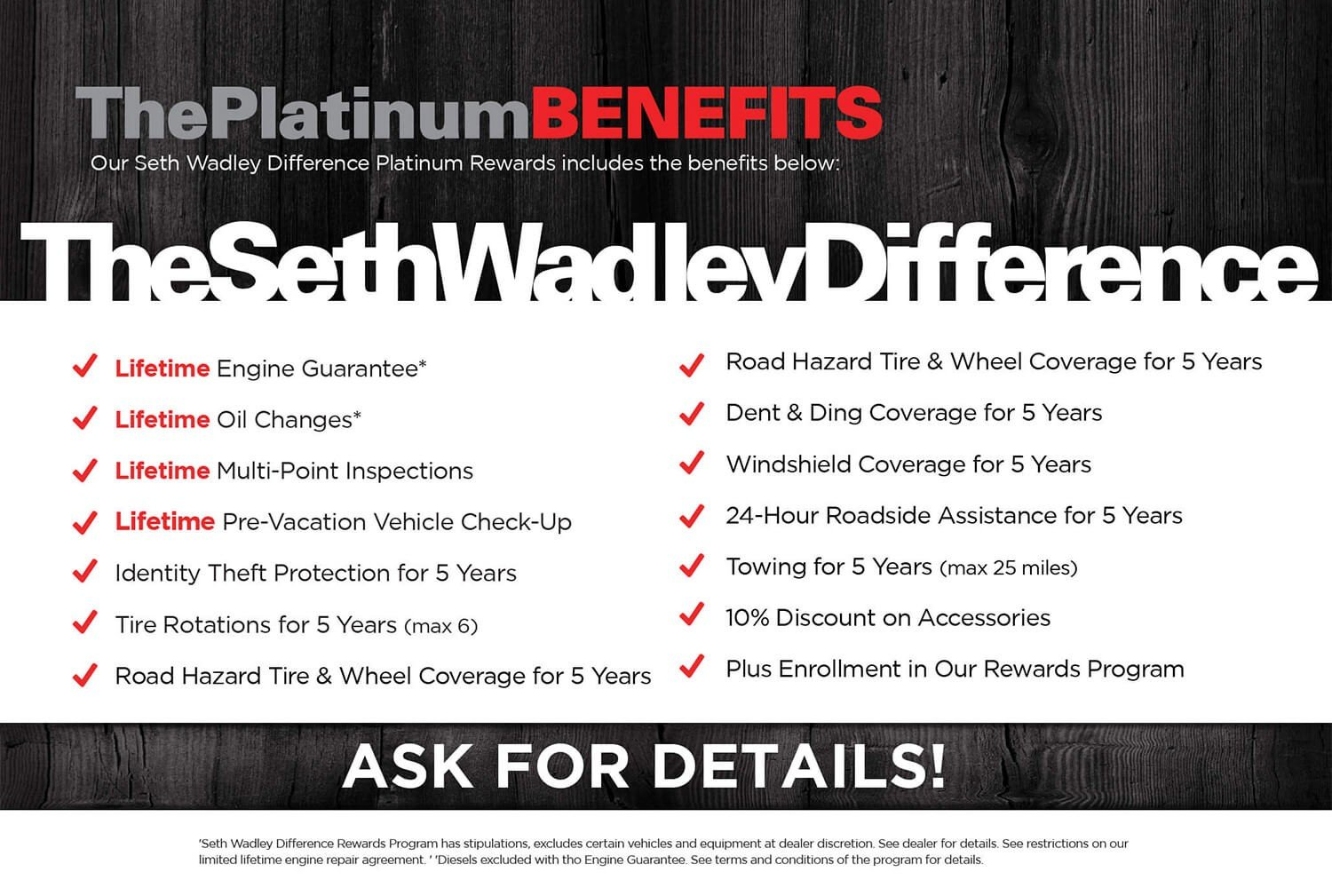 Seth Wadley Platinum Benefits