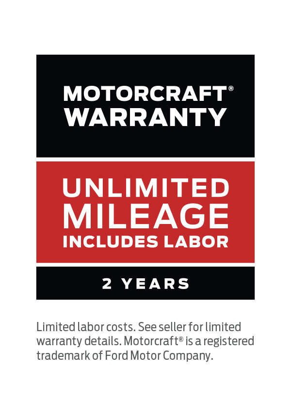 Coupon for MOTORCRAFT® WARRANTY: TWO YEARS. UNLIMITED MILEAGE. INCLUDES LABOR.*